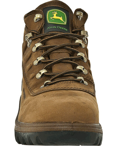 "John Deere® Men's WCT Waterproof Safety Toe 5"" Hiking Boots, Tan, hi-res"