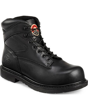 Red Wing Irish Setter Black Farmington Work Boots - Steel Toe , Black, hi-res