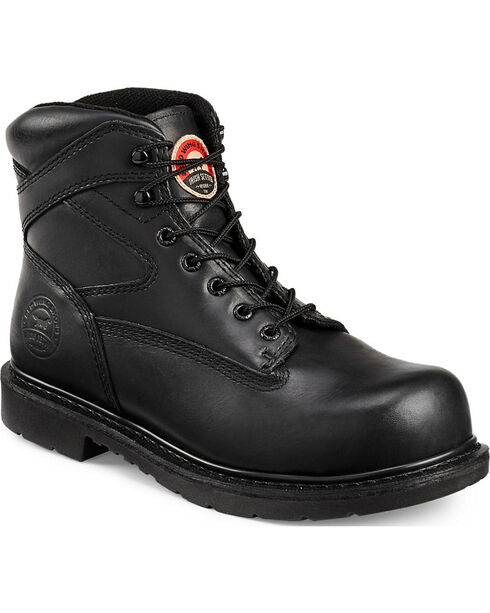 Red Wing Irish Setter Black Farmington Work Boots - Steel Toe , Black, hi-res