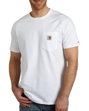 Carhartt Men's Force Cotton Short Sleeve Shirt, White, hi-res