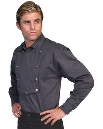 Wahmaker by Scully Brushed Twill Bib Shirt, , hi-res