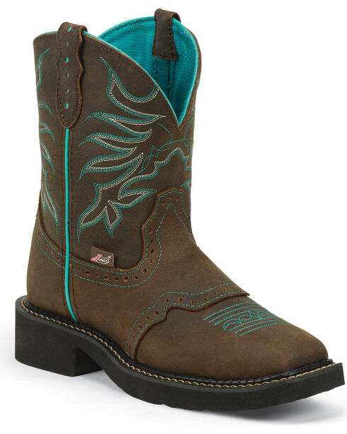Justin Women's Mandra Western Boots, Chocolate, hi-res