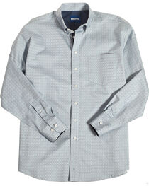 Resistol Men's Light Blue Edison Geo Button Shirt , , hi-res