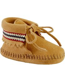 Minnetonka Infant Boys' Braided Bootie Moccasins, , hi-res