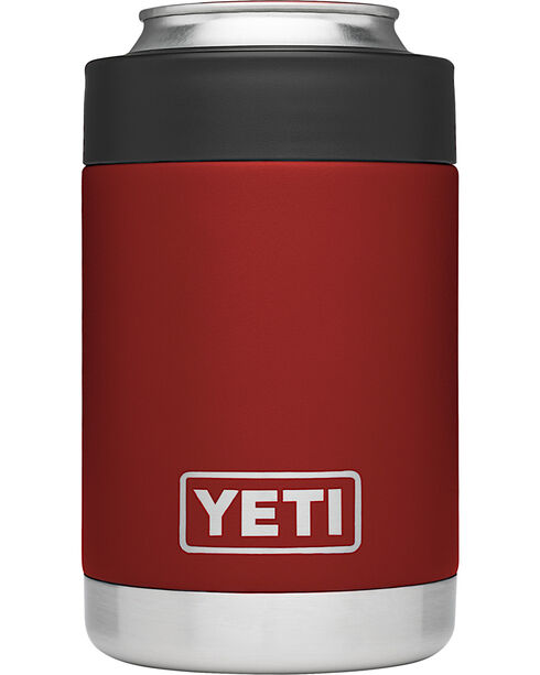 Yeti Brick Red Rambler Colster , Red, hi-res