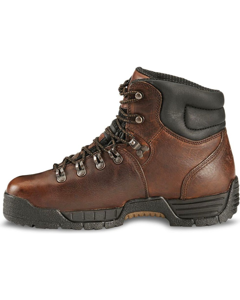 Rocky Men's Mobilite Steel Toe Hiking Boots, Brown, hi-res