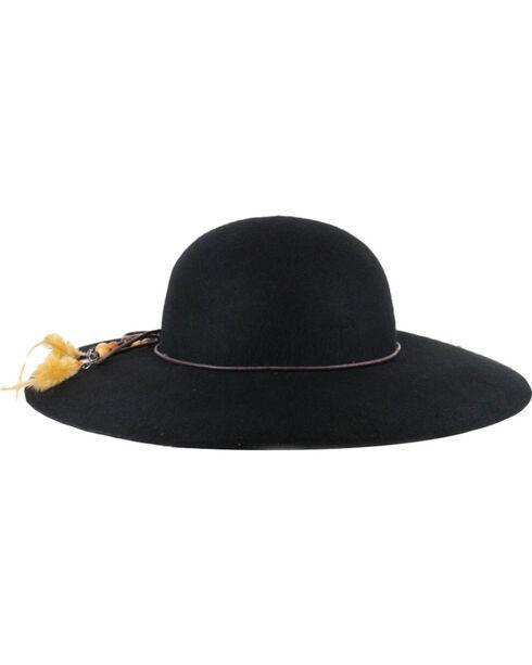 Shyanne® Women's Delia Floppy Felt Hat, Black, hi-res