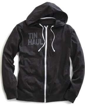 Tin Haul Men's Screen Print Stripe Zip-Up Hoodie, Black, hi-res