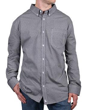 Cody James® Men's Printed Button Down Long Sleeve Shirt, White, hi-res