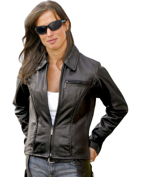 Milwaukee Motorcycle Electra Leather Jacket - Reg, Black, hi-res