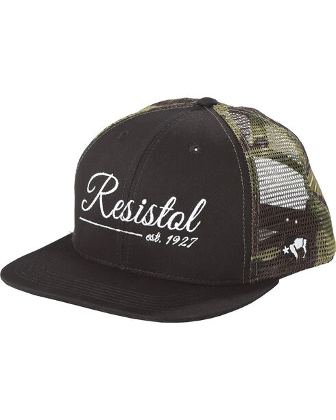 Hooey Men's Black Resistol 6 Panel Baseball Cap , Black, hi-res