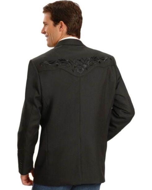 Scully Black Floral Embroidered Western Jacket, Black, hi-res