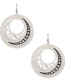 Montana Silversmiths Western Lace Winding Earrings, , hi-res