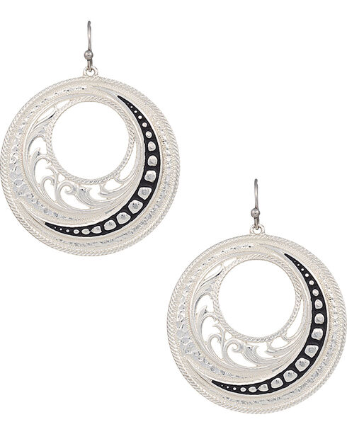 Montana Silversmiths Western Lace Winding Earrings, Silver, hi-res