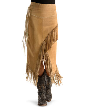 Scully Women's Fringe Skirt, Tan, hi-res