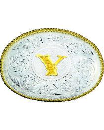 Montana Silversmiths Engraved Initial Y Western Belt Buckle, , hi-res