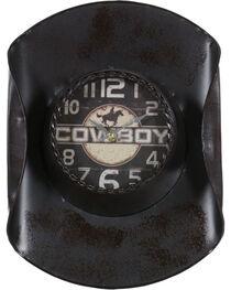 Gift Craft Metal Cowboy Hat Wall Clock, , hi-res
