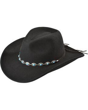 Outback Unisex Tassy Crusher Silverton Hat, Black, hi-res