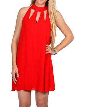 Hyfve Women's Triple Keyhole Dress, Red, hi-res