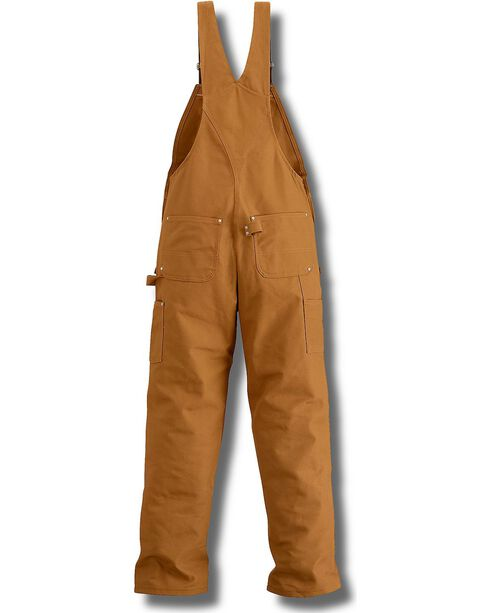 Carhartt Men's Duck Carpenter Bib Overalls, Carhartt Brown, hi-res