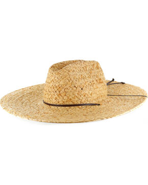 American Worker® Wide Brim Straw Hat, Natural, hi-res