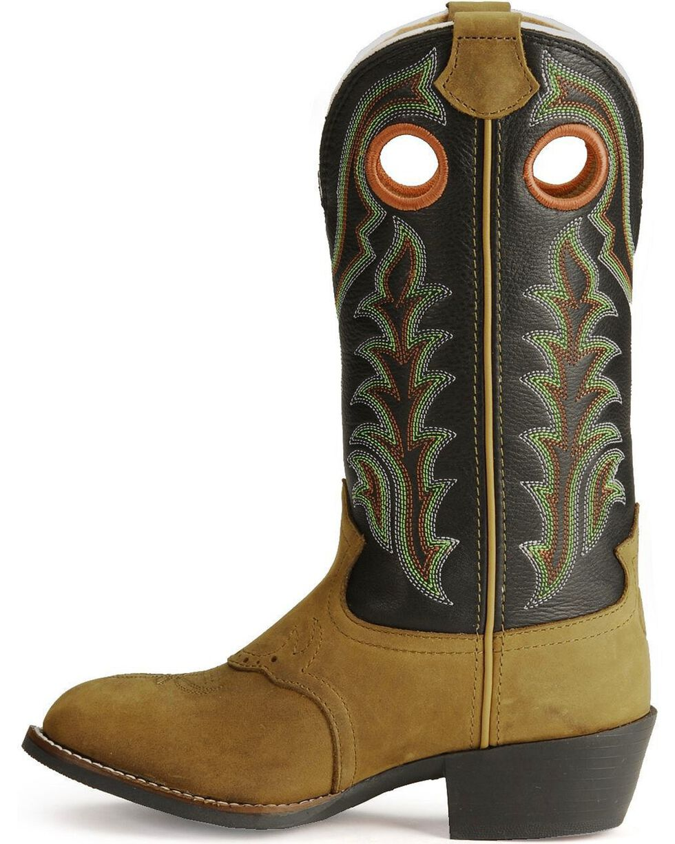 Tony Lama Children's Tiny Lama 3R Cowboy Boots - Round Toe, Crazyhorse, hi-res