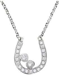Montana Silversmiths Women's Horseshoe Necklace, , hi-res