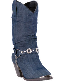 Dingo Women's Denim Olivia Western Fashion Boots, , hi-res