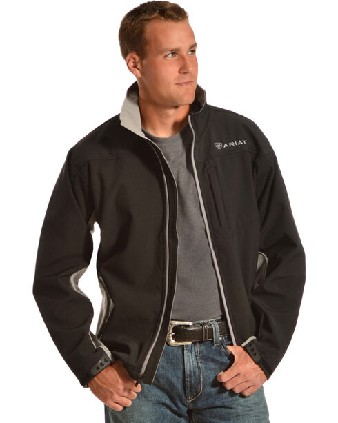 Ariat Men's Vernon Softshell Jacket, Black, hi-res