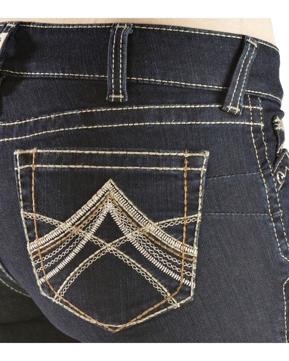 Ariat Women's Mid-Rise Boot Cut Riding Jeans, Denim, hi-res