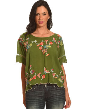 Johnny Was Women's Alivia Blouse, Dark Green, hi-res