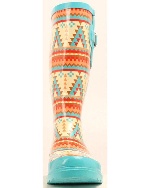 Blazin Roxx Dakota Southwestern Rain Boots - Round Toe, Multi, hi-res