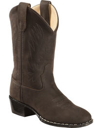 Old West Boys' Cowboy Boots - Round Toe, , hi-res