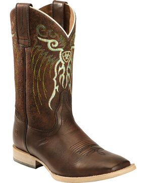 Ariat Kids' Mesteno Western Boots, Copper, hi-res