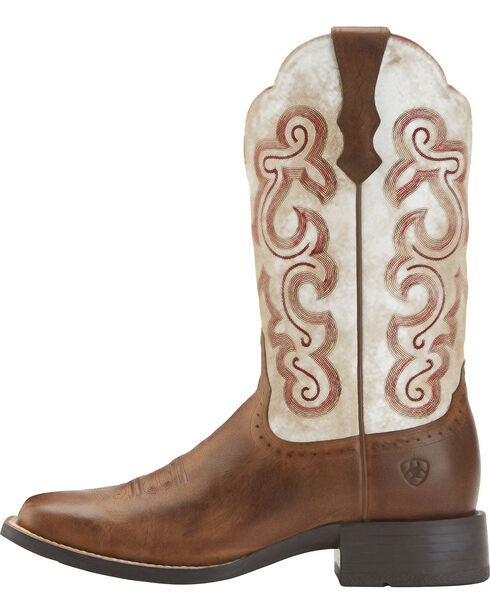 Ariat Women's Quickdraw Western Boots, Brown, hi-res