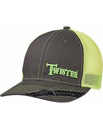 Twister Men's Grey Offset Green Text Baseball Cap , , hi-res