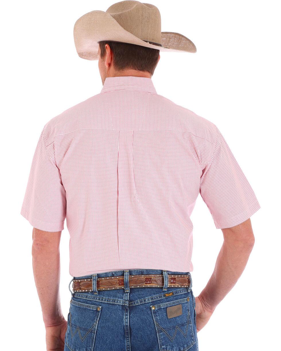 Wrangler Men's George Straight Button Down Short Sleeve Shirt, White, hi-res