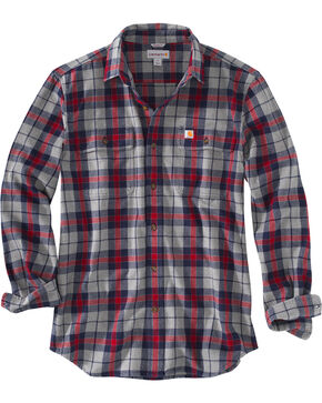 Carhartt Men's Hubbard Plaid Shirt - Big, Navy, hi-res