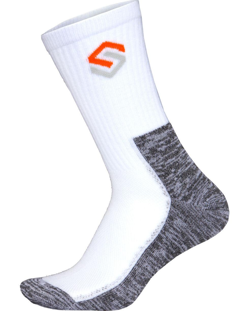 Scentlok Technologies Men's White Everyday Socks, White, hi-res