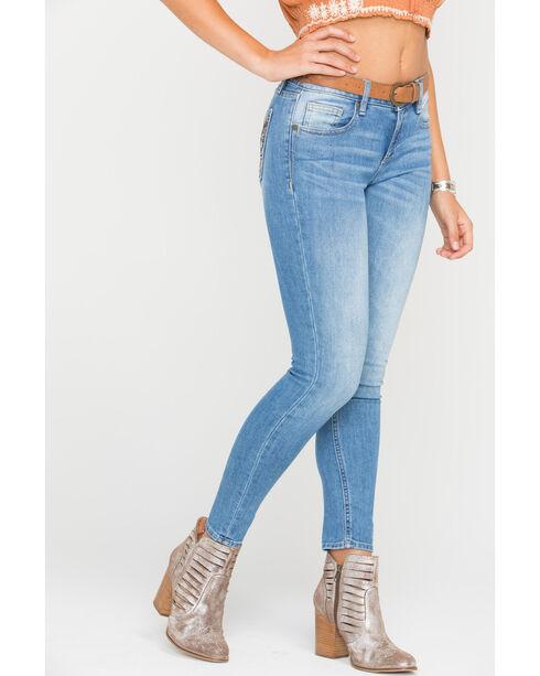 Miss Me Women's Butterfly Pocket Ankle Jeans - Skinny , Indigo, hi-res