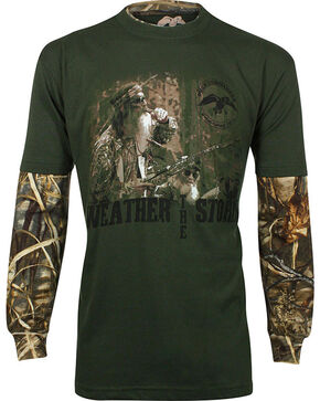 Duck Dynasty Men's Long Sleeve Graphic Print T-Shirt, Forest Green, hi-res