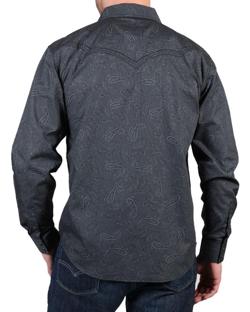 Cody James® Men's Wild Paisley Long Sleeve Shirt, Black, hi-res