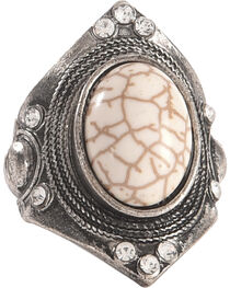 Shyanne Women's Large Gemstone Stretch Statement Ring, , hi-res