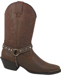 Smoky Mountain Charlotte Brown Harness Cowgirl Boots - Pointed Toe, , hi-res