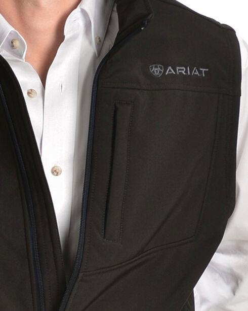 Ariat Men's Vernon Softshell Vest, Black, hi-res