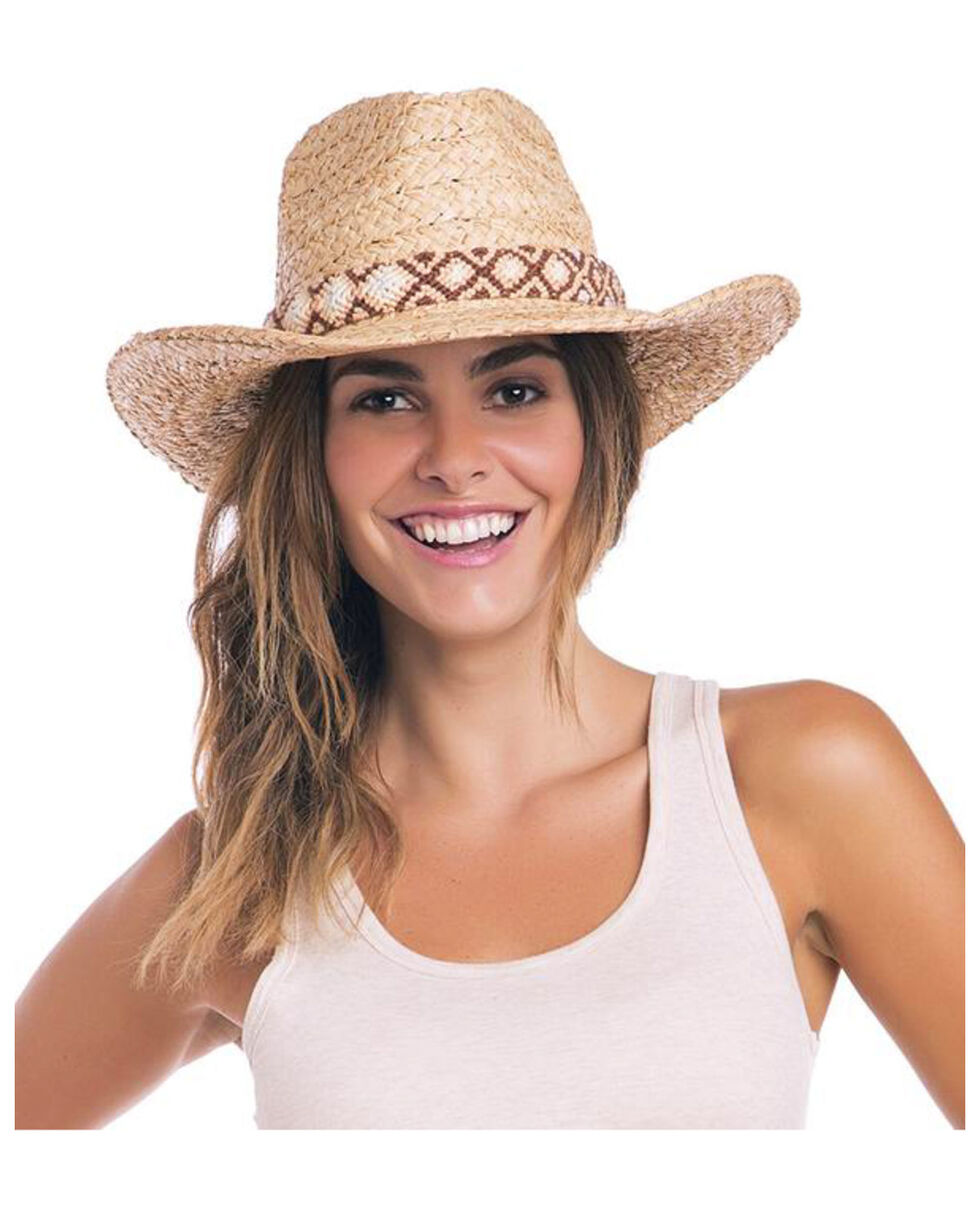 ále by Alessandra Women's Destin Hat , Natural, hi-res