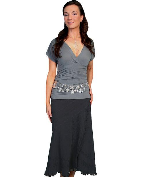 Scully Women's Soutache Skirt, Black, hi-res