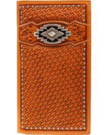 Ariat Basketweave Aztec Concho Rodeo Wallet, , hi-res