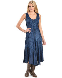 Scully Women's Lace-Up Jacquard Dress, , hi-res