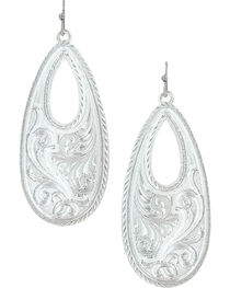 Montana Silversmiths Winter's Forever Basket Earrings , , hi-res